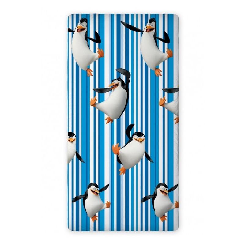 Licenční prostěradlo 90 x 200 Penguins