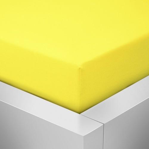 Jersey prostěradlo, Žluté 125