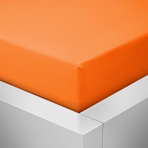 Jersey prostěradlo, Tmavě oranžová 723